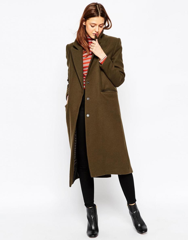 Long manteau, vêtement des femmes branchées