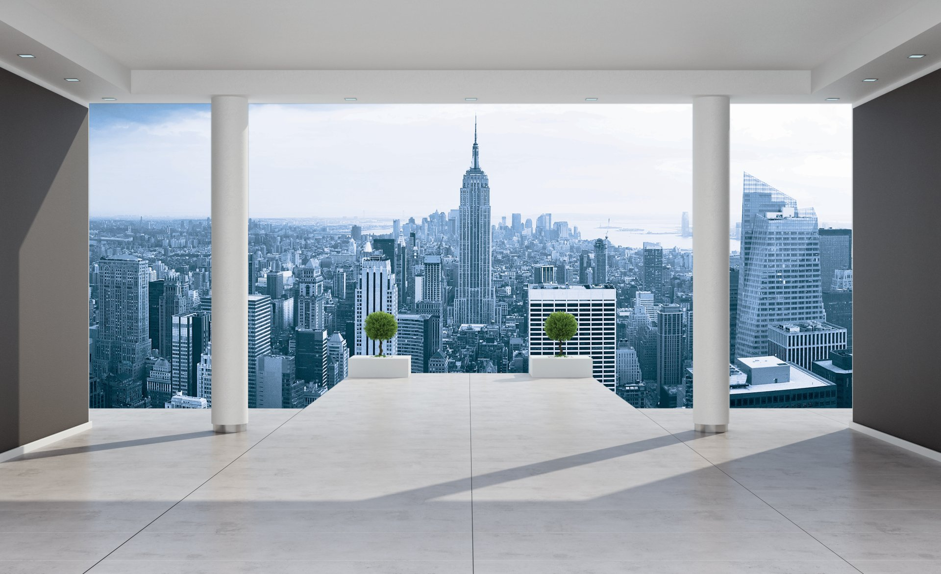 Décoration d'intérieur avec le papier peint new york